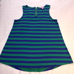 Lilly Pulitzer  Green Sleeveless top Stipe